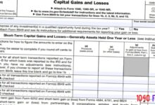 2020 - 2021 Schedule D Capital Gains and Losses